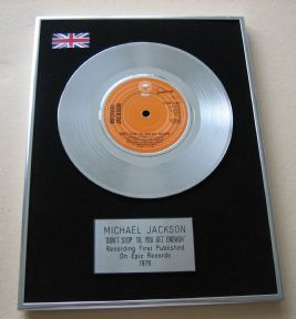 MICHAEL JACKSON - DON'T STOP 'TIL YOU GET ENOUGH PLATINUM single presentation Disc
